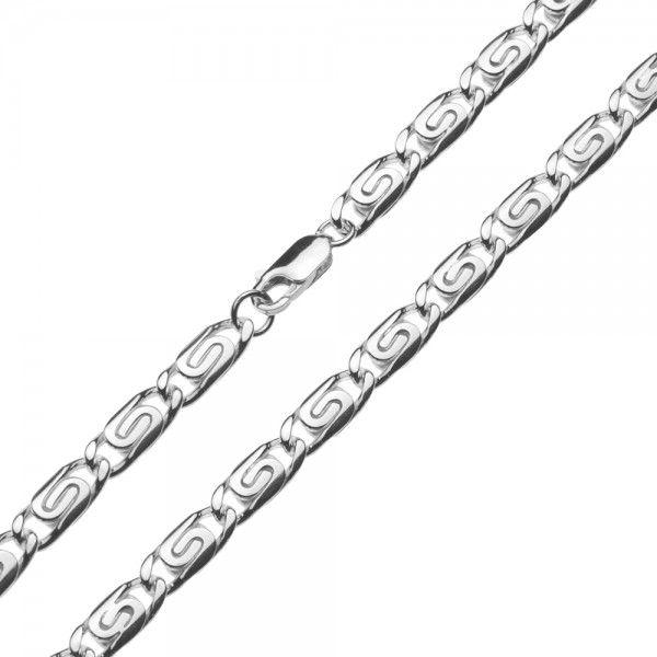 Zilveren Griekse ketting van 6 mm breed in iedere gewenste lengte leverbaar!
