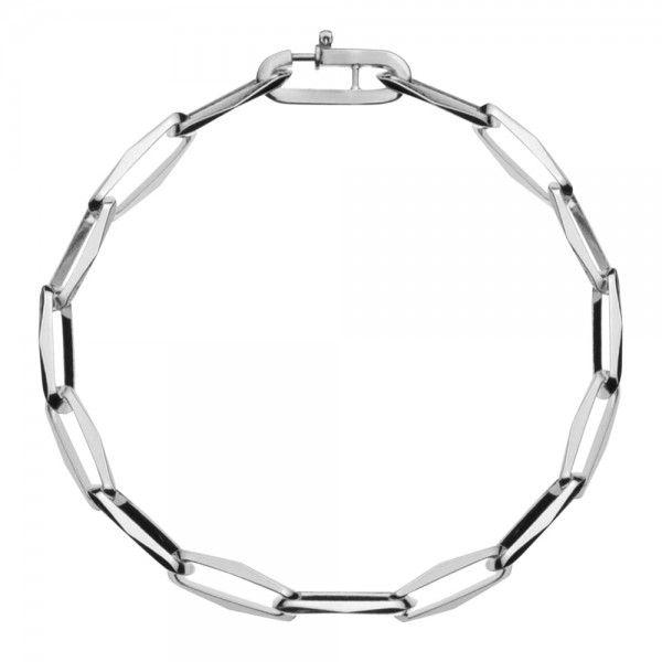 Zilveren CFE armband van 5 mm breed zonder ogen tussen de schakels, 19 of 22 cm lang.