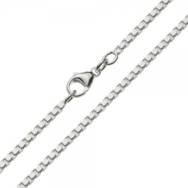 Zilveren venetiaanse ketting van 2,1 mm breed, in iedere gewenste lengte.
