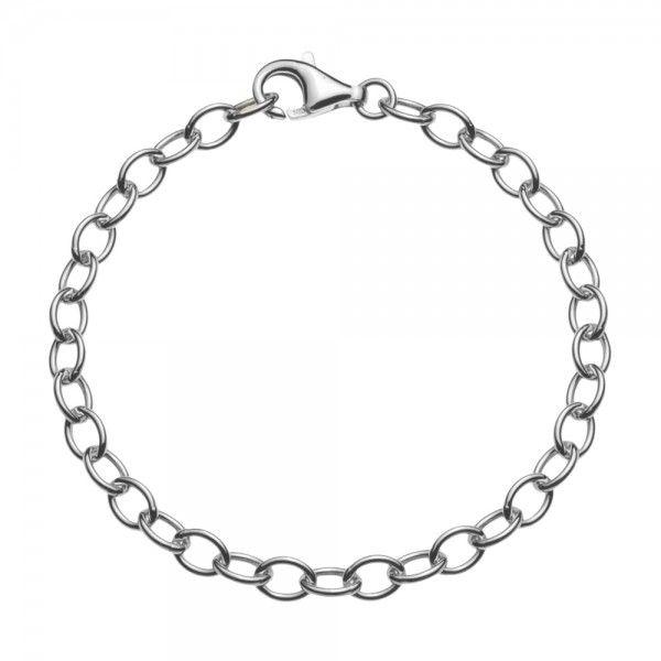 Zilveren anker armband van 5 mm breed. Elke lengte is leverbaar, dus ook extra lange/grote maten zijn mogelijk.