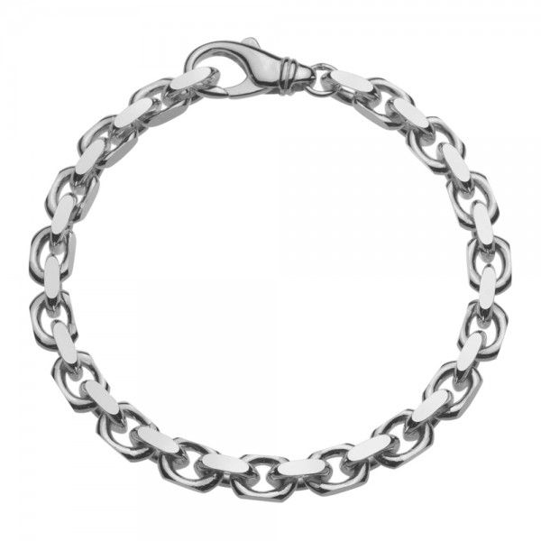 Grof model zilveren anker armband van 6 mm breed. Elke lengte is leverbaar.