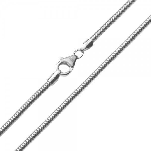 Zilveren snake chain van 2,4 mm breed en 42, 45, 50 of 60 cm lang.