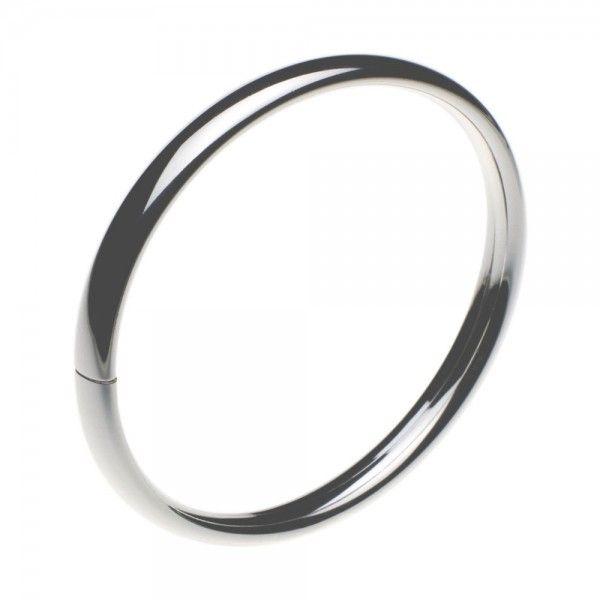 Slaven armband van zilver met klemsluiting. Breedte 6 mm, leverbaar in 3 verschillende maten, ook voor dikke polsen.