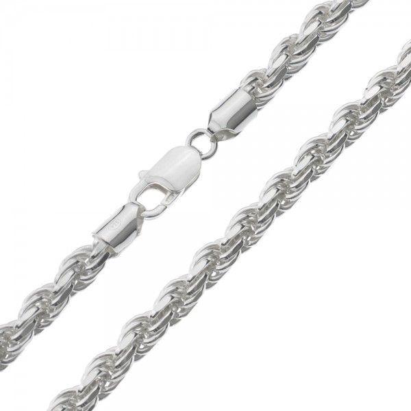 Koord ketting van 925 zilver met geslepen schakels, breedte 6 mm. Alle lengtematen mogelijk!