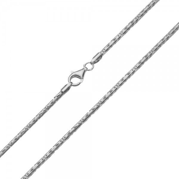 Zilveren konings ketting met ronde schakels van 4 mm breed, in iedere gewenste lengte.