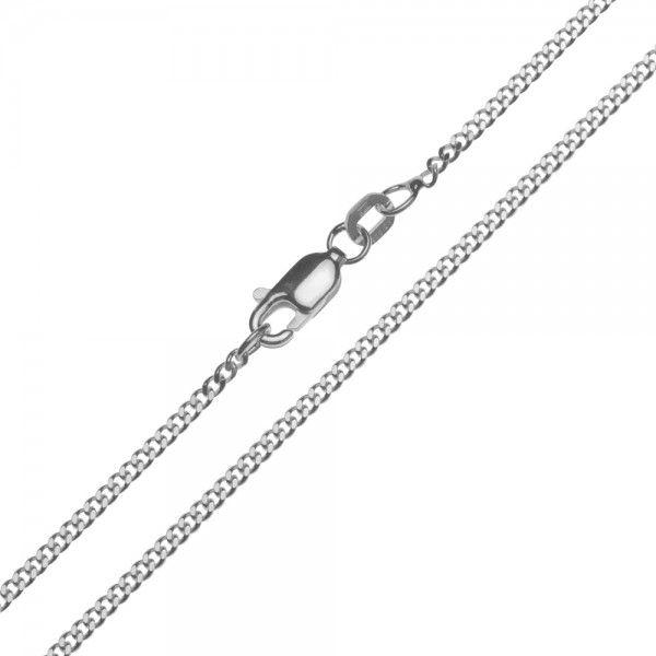 Zilveren gourmet ketting van 1,7 mm breed en 42, 45, 50, 60, 70 of 80 cm lang.