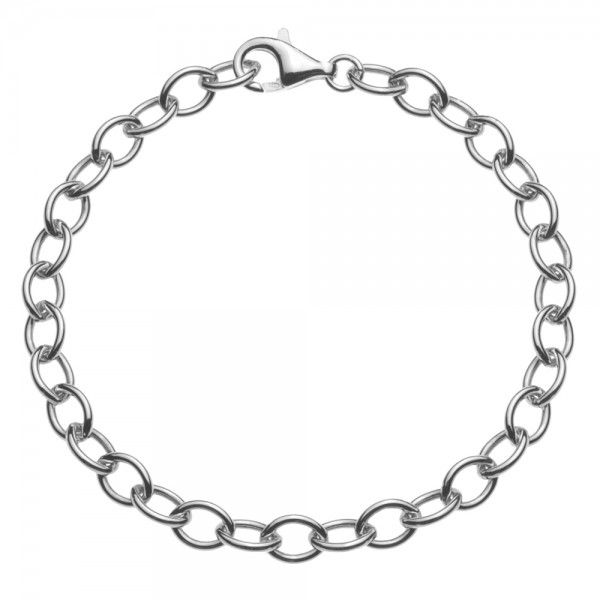 Zilveren anker armband van 6 mm breed. Elke lengte is leverbaar, dus ook extra lange/grote maten zijn mogelijk.