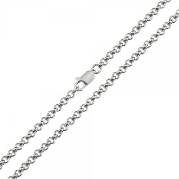 Zilveren jasseron ketting met massieve schakels. 3 mm breed, alle lengtes mogelijk.