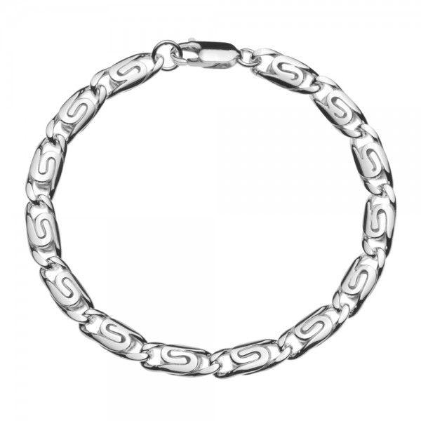 Zilveren Griekse armband van 6 mm breed in iedere gewenste lengte leverbaar!