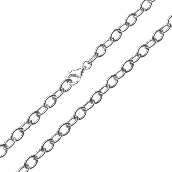 Zilveren anker ketting van 6 mm breed. Elke lengte is leverbaar.