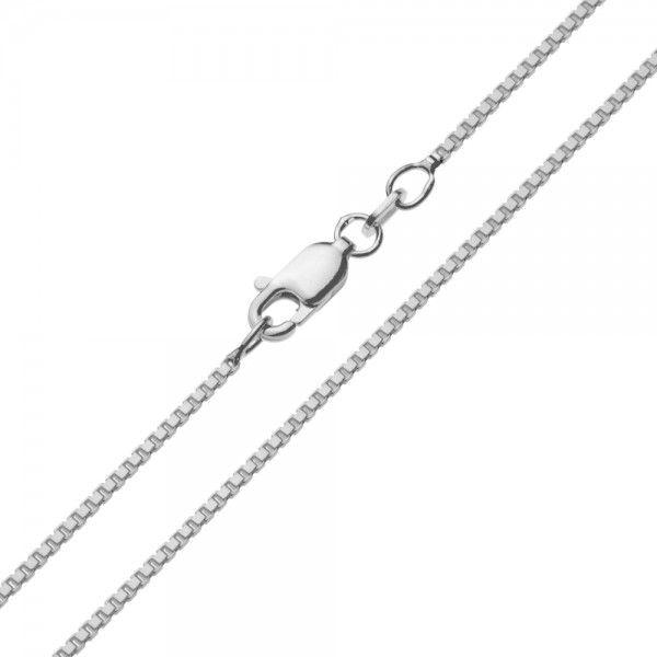 Zilveren venetiaanse ketting van 1,2 mm breed en 42, 45, 50, 60 of 80 cm lang.