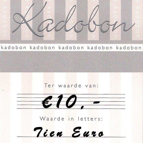 Sieraden kadobon ter waarde van €10,- online te besteden bij Kettingenenarmbanden.com