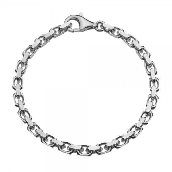 Grof model zilveren anker armband van 4,5 mm breed. Elke lengte is leverbaar.