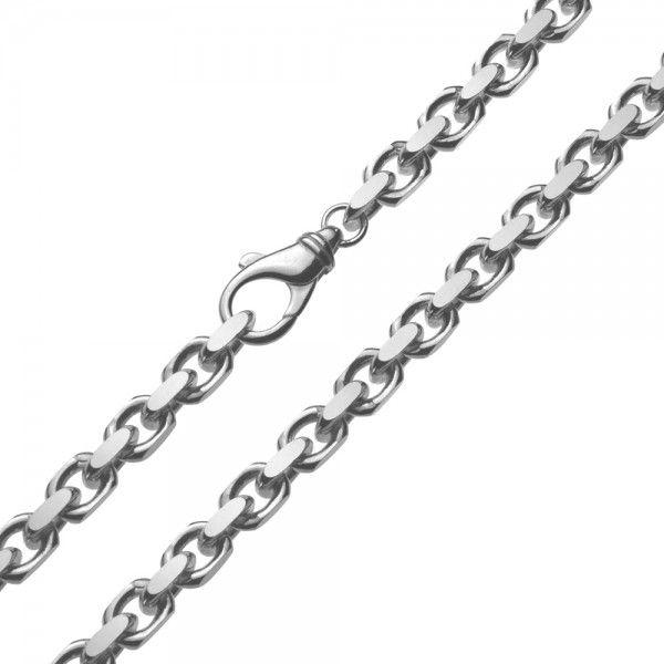 Grof model zilveren anker ketting van 6,0 mm breed. Elke lengte is leverbaar.