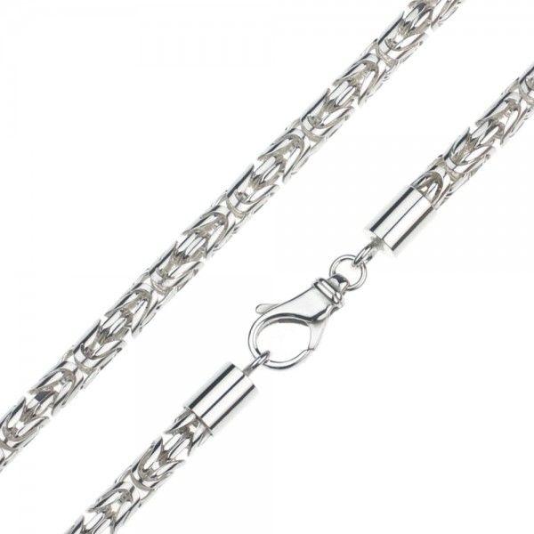 Zilveren konings ketting met ronde schakels van 6 mm breed. Afgeprijsd!