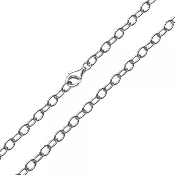 Zilveren anker ketting van 5 mm breed. Elke lengte is leverbaar.