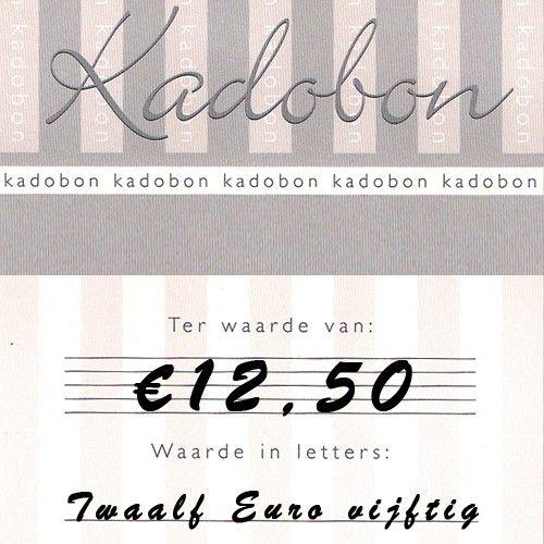 Sieraden kadobon ter waarde van €12,50 online te besteden bij Kettingenenarmbanden.com