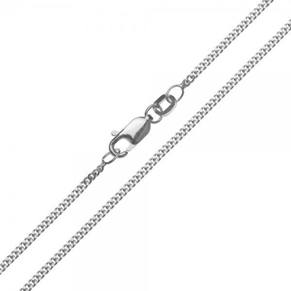 Zilveren gourmet ketting van 1,5 mm breed en 42, 45, 50, 60, 70 of 80 cm lang.