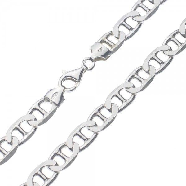 Zilveren gucci ketting van 8 mm breed in iedere gewenste lengte leverbaar!