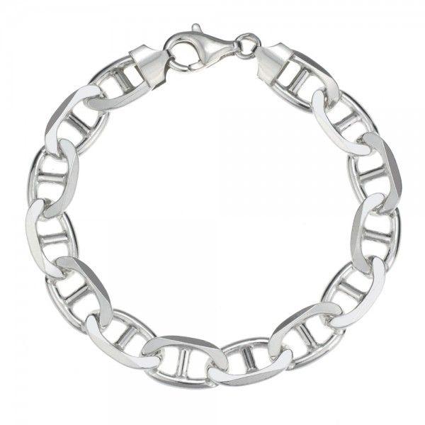 Zilveren gucci armband van 10 mm breed in iedere gewenste lengte leverbaar!