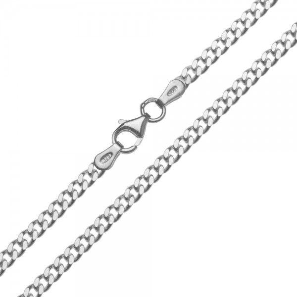 Zilveren gourmet ketting van 2,8 mm breed en 42, 45, 50, 60 of 70 cm lang.