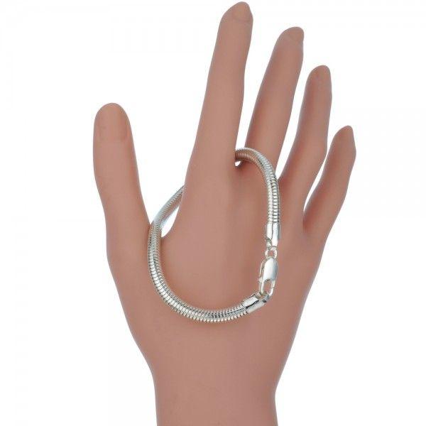 Zilveren slangenarmband van 5 mm breed. Op lengte voor u gemaakt.