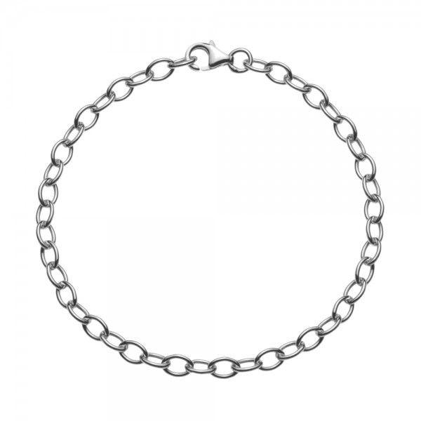 Zilveren anker armband van 4 mm breed. Elke lengte is leverbaar, dus ook extra lange/grote maten zijn mogelijk.