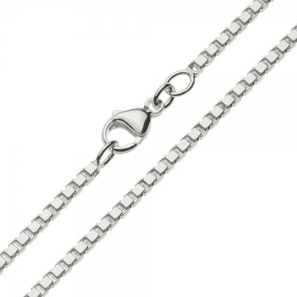Zilveren venetiaanse ketting van 2,4 mm breed, in iedere gewenste lengte.