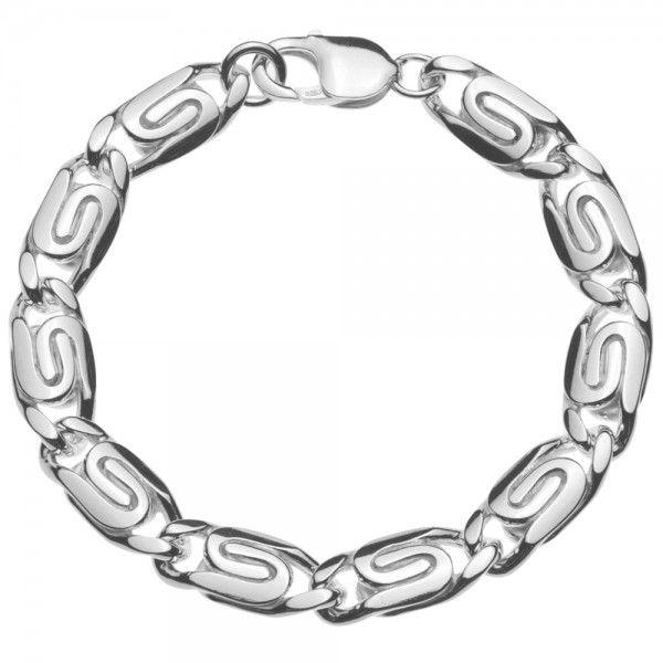 Zilveren Griekse armband van 10 mm breed in iedere gewenste lengte leverbaar!