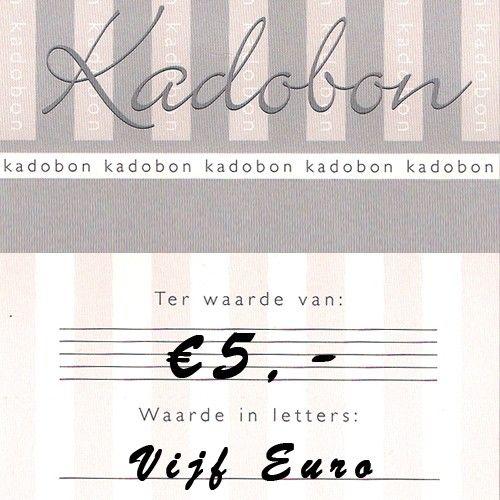 Sieraden kadobon ter waarde van €5,- online te besteden bij Kettingenenarmbanden.com