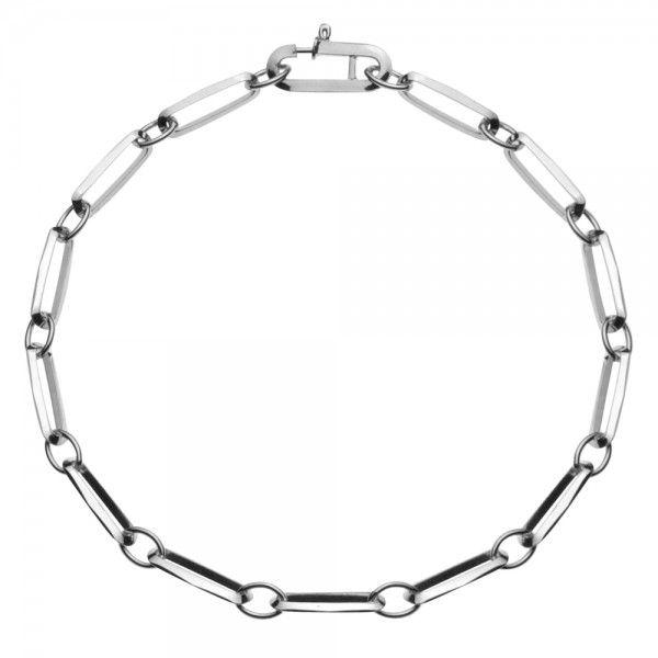 Zilveren CFE armband van 4 mm breed met ogen tussen de schakels, 19 cm lang.