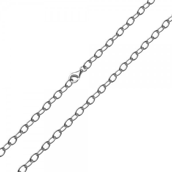Zilveren anker ketting van 4 mm breed. Elke lengte is leverbaar.