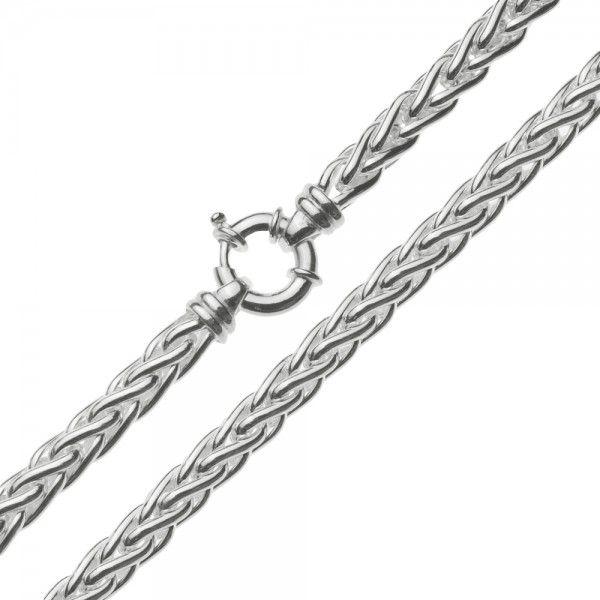 Zilveren vossenstaart ketting van 6 mm breed en 45 of 50 cm lang