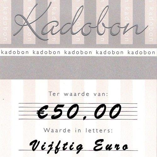 Sieraden kadobon ter waarde van €50,- online te besteden bij Kettingenenarmbanden.com