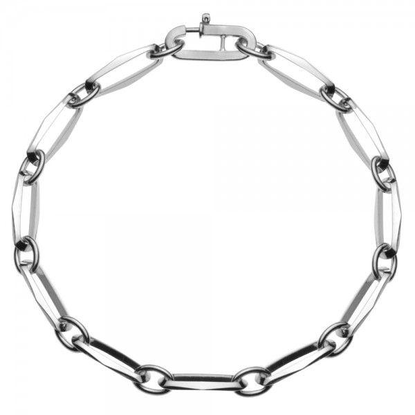 Zilveren CFE armband van 5 mm breed met ogen tussen de schakels, 19 of 22 cm lang.