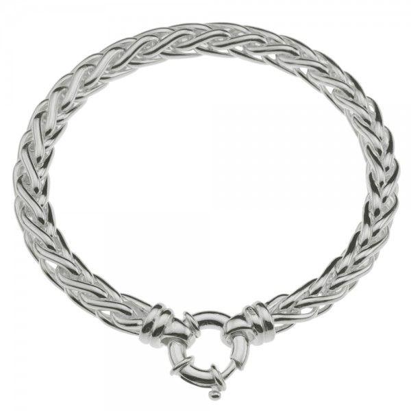 Zilveren vossenstaart armband van 6 mm breed en 19 of 20 cm lang